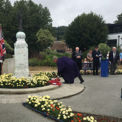 Vj Day 2020 Cllr Wreath Laying