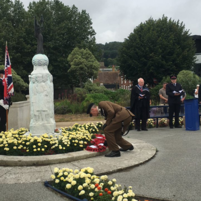 Vj Day 2020 War Memorial Wreath Laying