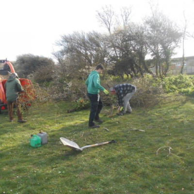 Stephen Bailey Brett And Volunteer Working On Hythe Green