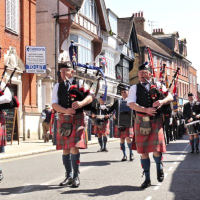 Armed Forces Day 2019 Bagpipers