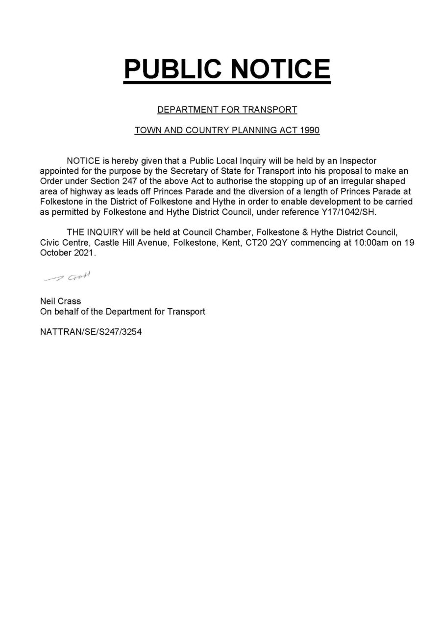 S247 Inquiry Notice
