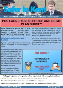 Kent Pcc's Police And Crime Plan Survey 2021